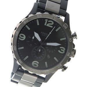 フォッシル FOSSIL クロノ クオーツ ブラック 買い取り JR1527 信用 腕時計 メンズ