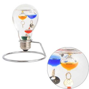 ガリレオ温度計:電球型ガラスフロート温度計208〜郵送可¥500|imanando