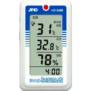 WBGT計:A&D携帯型熱中症指数モニターAD-5688〜〒郵送可¥320|imanando