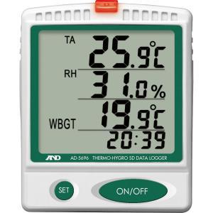 WBGT計:A&D熱中症指数計&温湿度計データロガーAD-5...