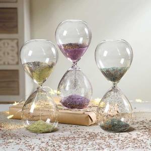 砂時計:MASCAGNI ラメ ガラス砂時計 C552|imanando