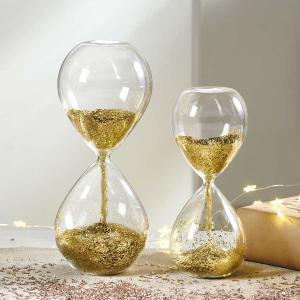 砂時計:MASCAGNI 金 グリッター ガラス砂時計 C553 C554|imanando