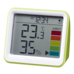 熱中症指数計つきデジタル温湿度計&時計DO03〜〒郵送可¥320 imanando