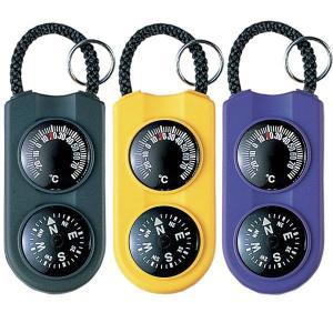サーモ&コンパス:キーホルダー&温度計&方位磁石〜〒郵送可¥320|imanando