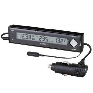 VTメータークロック:車用電圧計+電波時計+温度計Fizz-890〜〒郵送可¥320|imanando