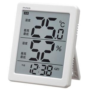 温湿度計:でか文字デジタル温度湿度計&時計N-026〜〒郵送可¥320|imanando