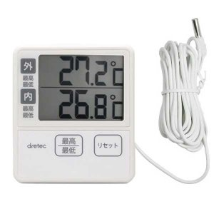 冷蔵庫温度計:外部センサー温度計O-285IV〜〒郵送可¥320|imanando