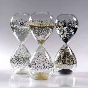 砂時計:銀箔 30分 ガラス砂時計 O1283|imanando