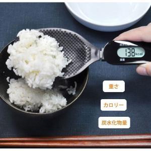 しゃもじスケール:カロリー&炭水化物量が計れるデジタルスケールPS-035ブラック〜〒郵送可¥320|imanando