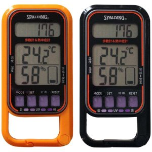 歩数計:UV計/熱中症計/温湿度計/時計/歩数計PS370〜〒郵送可¥320|imanando