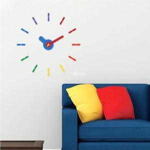 時計 ウォールステッカークロック 壁 シール 両面テープ|imanando