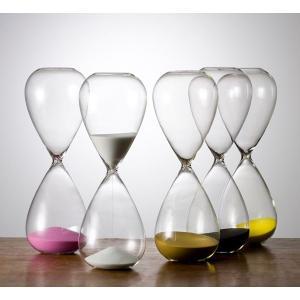 砂時計:シンプルな30分計のガラス砂時計:白色|imanando