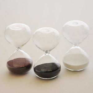 砂時計:シンプルな3分計/4分計のガラス砂時計〜〒郵送可¥320|imanando