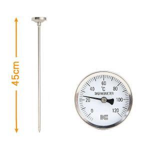 堆肥温度計:45cm長の堆肥用バイメタル温度計〜〒郵送可¥500 imanando