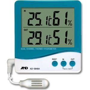 デジタル温度計:外部温湿度センサーデジタル温湿度計AD-5648A〜〒郵送可¥320 imanando