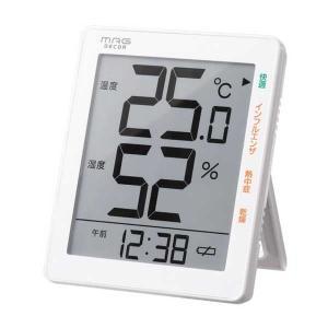 温湿度計 でか文字 デジタル 温度湿度計 時計 メール便可¥320|imanando