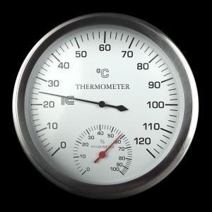 サウナ用温度計 湿度計 アナログ 乾式サウナ サーモ550 送料無料|imanando