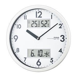 時計 温湿度計 カレンダー 連続秒針 掛け時計 imanando