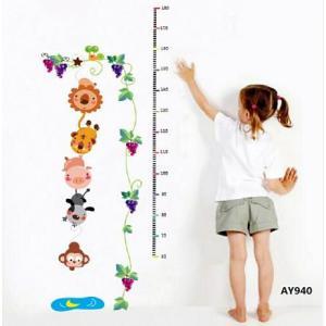 身長計:壁に貼るウォールステッカー身長計〜〒郵送可¥500|imanando