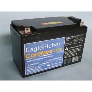 メンテナンスフリー イーグルピッチャー(EaglePicher) ディープサイクルバッテリー CF12V100DC 代引不可 送料無料|imarketweb