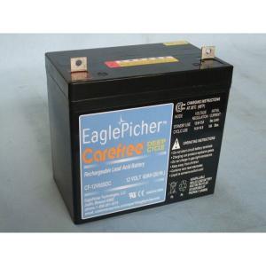 メンテナンスフリー イーグルピッチャー(EaglePicher) ディープサイクルバッテリー CF12V60SDC 代引不可 送料無料|imarketweb