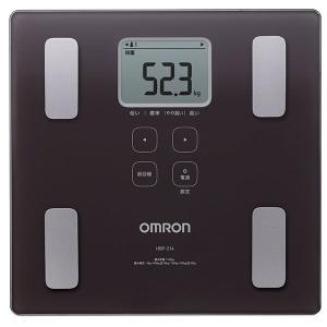 収納に便利なスリムデザイン オムロン (OMRON) 体重体組成計 カラダスキャン HBF-214-BW ブラウン imarketweb