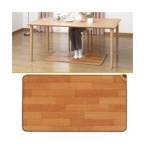 ホットテーブルマット 110×60cm フローリングタイプ マット テーブルマット ホットマット テーブル 防水 防水表面材 sugiyama 杉山紡織|imarketweb
