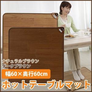 ホットテーブルマット 杉山紡織 SB-TM60 ナチュラルブラウン ダークブラウン|imarketweb