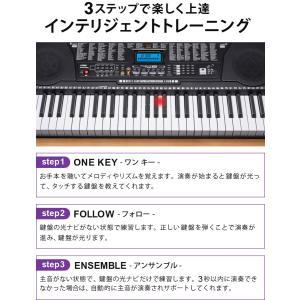 電子キーボード 61鍵盤 電子ピアノ 初心者 PlayTouchFlash61 発光キー 光る鍵盤 入門用としても SunruckSR-DP04|imarketweb|13