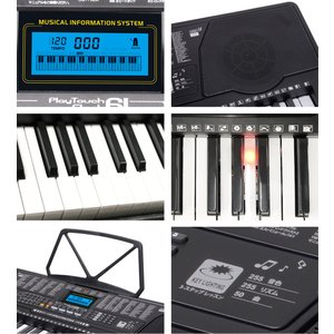 電子キーボード 61鍵盤 電子ピアノ 初心者 PlayTouchFlash61 発光キー 光る鍵盤 入門用としても SunruckSR-DP04|imarketweb|06