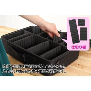 購入特典付き メイクボックス Lサイズ 大容量 仕切り板調節可能 コスメボックス 化粧品バッグ メイク 化粧品 コスメ 持ち運び 収納ケース 小物入れ Sunruck|imarketweb|04