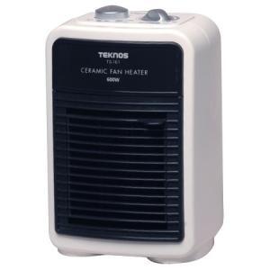 ミニセラミックヒーター 600W TEKNOS(テクノス)  TS-161 温風による循環暖房効果 小さいけど本格派ヒーター 送料無料|imarketweb