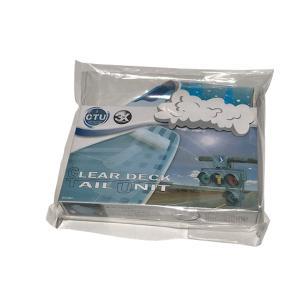 CTU クリアデッキ テールデッキパッド(4分割入り) サーフィン マリンスポーツ アウトドア ワックス 薄い ボード 安定 やわらかい 半透明|imashun-stores