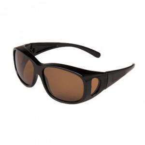 偏光オーバーサングラス ブラウン メガネ 紫外線 オーバーグラス アウトドア まぶしい 見やすい おしゃれ メンズ ゆっくり UVカット 釣り レディース ケース付|imashun-stores