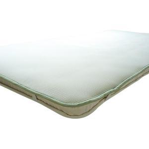 越後ふとん スリープエアーマット(ジャパンプレミアム) シングル 100×200cm フュージョン白・182830 ふとんマット 通気性 コンパクト 国産 クッション性 布|imashun-stores