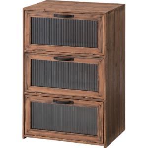 フラップチェスト ビンテージ レトロ 木目 暖かい リビング収納 キッチン収納 食器棚 小物入れ 本棚 書類棚 万能 収納|imashun-stores
