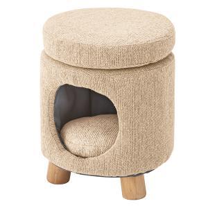 ペットスツール ベージュ 丸型 猫 犬 ペットハウス ペット スツール 椅子 チェア 猫カフェ おしゃれ リビング 居間 円筒|imashun-stores