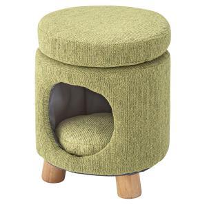 ペットスツール グリーン 丸型 猫 犬 ペットハウス ペット スツール 椅子 チェア 猫カフェ おしゃれ リビング 居間 円筒|imashun-stores