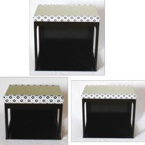 茶道具 座椅子 茶事座椅子 黒掻合塗 大 中 小3個セット|imaya-storo