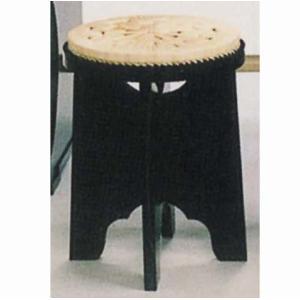 茶道具 立礼用品 円椅子 座椅子 立礼用椅子 縁止有り 円座付 一客 止金具付|imaya-storo