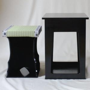 茶道具 座椅子 近藤さんのちょっと椅子 黒掻合塗|imaya-storo