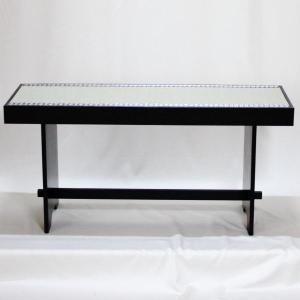 茶道具 椅子 座椅子 黒掻合塗 床几 二人用 組立式 一客|imaya-storo