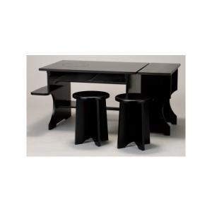 茶道具 立礼棚 各流派用 IH兼用 立礼棚3点セット 点茶盤 横付 円椅2個 組立式|imaya-storo