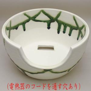 茶道具 風炉 紅鉢 瓶掛 織部焼 約9寸 電熱器 炭兼用 加藤景陶作|imaya-storo
