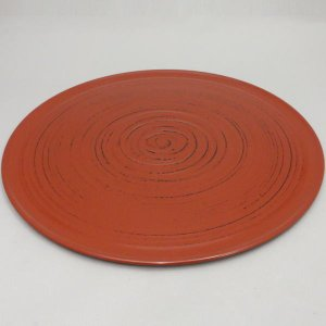 懐石道具 会席道具 給仕盆 丸盆 通い盆 通盆 根来塗り 尺二  プラスチック製|imaya-storo