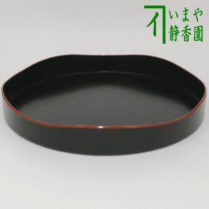 茶道具 お点前用盆 山道盆 プラスチック製 黒 爪紅 裏千家|imaya-storo