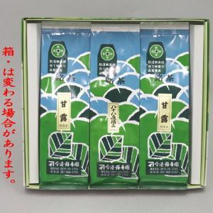 日本茶 緑茶 ギフトセット 詰め合わせ ご贈答 香川県産 煎茶3本入セット 甘露2本 八十八夜摘み1本 各100g入り AAAAA|imaya-storo