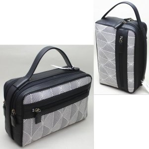 「日用品/雑貨 セカンドバッグ」 メンズバッグ 男子用セカンドバッグ 黒 五嶋紐製|imaya-storo