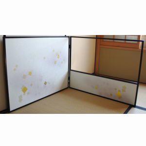 「茶器/茶道具 風炉先」 片袖片透切り箔 表面使用 高:2尺4寸 京間用|imaya-storo
