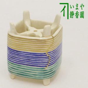 「茶器/茶道具 蓋置き」 青釉 雪華 山川敦司作 (泉涌寺窯)|imaya-storo